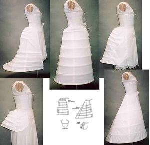 Picture of 1856-1889 Hoops and Bustles Pattern #L112