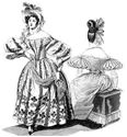 Picture of 1830's Romantic Era Dress Pattern #TV455