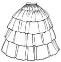 Picture of 1854 Flounced Skirt Pattern #TV241