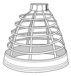 Picture of 1856 Walking Cage Crinoline Pattern #TV142