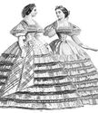 Picture of 1861 Raphael Dinner Dress Pattern #TV453