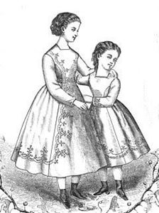 Picture of 1869 Princess Dress for Young Girls Pattern #TV600