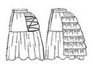 Picture of Petticoat with Wire Bustle Pattern #TV101