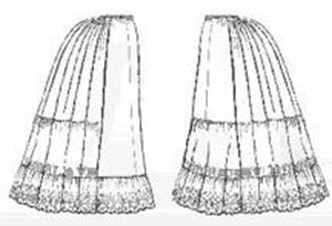Picture of Victorian Petticoats Pattern #TV170