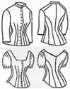 Picture of 1879 Cuirass Bodice Pattern #TV420