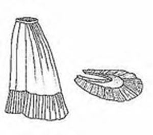 Picture of 1879 Petticoat with Detachable Train Pattern #TV121
