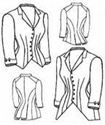 Picture of 1880 Jacket Bodice Pattern #TV428