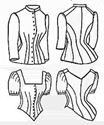 Picture of 1885 Bustle Cuirass Bodice Pattern #TV460