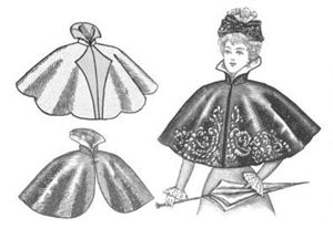 Picture of 1890's Cape Pattern #TV590