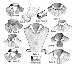 Picture of Late Victorian Collars and Cuff Pattern #TV104