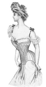 Picture of 1903 Edwardian Corset Pattern #TVE01