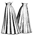 Picture of 1906 Ten Gore Princess Skirt Pattern #TVE23