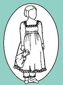 Picture of Child's Dress With Pantalets Pattern 1820-1830 #R105