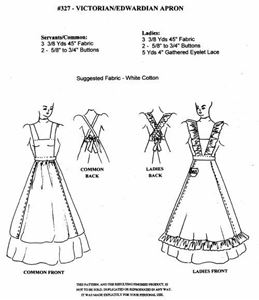 Picture of Victorian/Edwardian Apron Pattern #W327