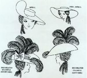 Picture of 1800's-1900's Hat Pattern #W709