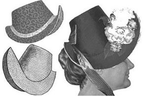 Picture of 1880's French Bonnets Pattern #TV551
