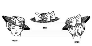Picture of 1900-1915 Hat Pattern #W718