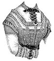 Picture of 1869 Corsage With Jabot Pattern #A1452