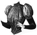 Picture of 1891 Bodice with Velvet Corselet Pattern #A1113