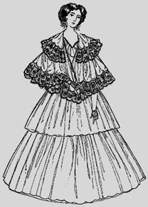 Picture of 1860's Female Outer Wrap Pattern #OW860A