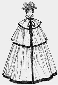 Picture of 1890's Evening Cape Pattern #OW890A