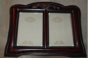 Picture of 3.5x5 Red Finish Double Resin Frame #2524
