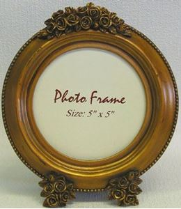 Picture of 5x5 Gold Round Frame #2512
