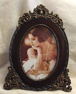 Picture of 5x7 Walnut Finish Resin Frame #2510