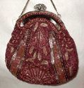 Picture of Burgundy Beaded Evening Bag #3103