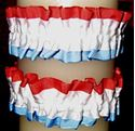 Picture of Red White and Blue Armband & Leg Garters #2457
