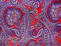 Picture of Red & Blue Paisley Calico Wild Rag #420-11