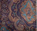 Picture of Blue and Gold Paisley Wild Rag #450-3