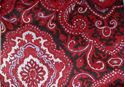 Picture of Red and Black Paisley Wild Rag #450-10