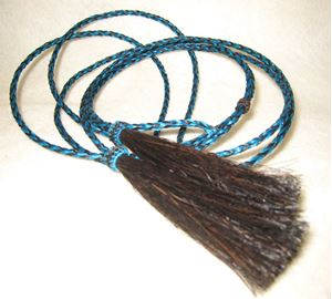 Picture of Black and Blue Mix Horsehair Stampede String #1208