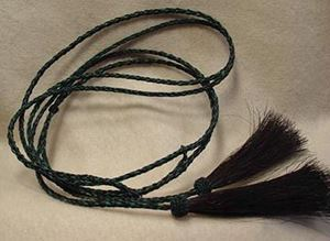 Picture of Black and Green Mix Horsehair Stampede String #1214