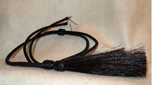 Picture of Black Leather Stampede String #1221