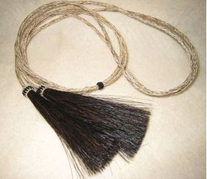 Picture of Tan Horsehair Stampede String #1206