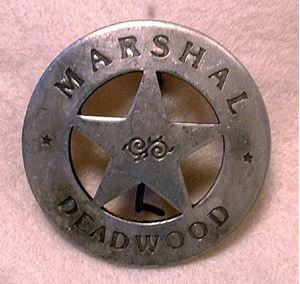 Picture of Marshal Deadwood Badge #205