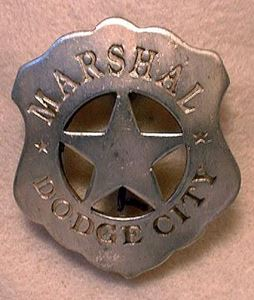 Picture of Marshal Dodge City Badge #206