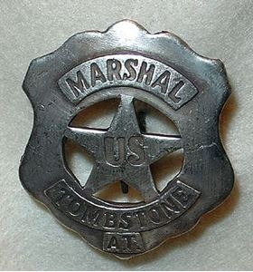 Picture of Tombstone A. T. Marshal Badge #211