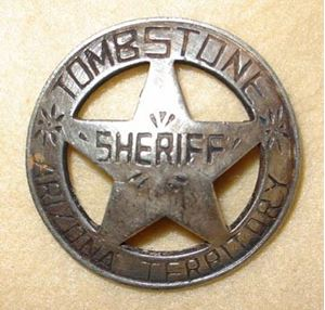 Picture of Tombstone Sheriff Badge #213