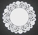 Picture of 6 Inch Round Paper Lace Doilies Bulk #1602