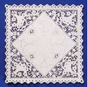 Picture of 12 Inch Square Basket Lace White Doilies #1630