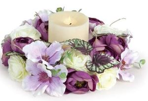 Picture of Clematis and Ranunculus Candle Ring/Wreath #3650