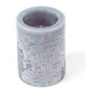 Picture of LED Flameless 3x4 inch Gray Candle with Timer #3608