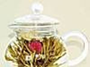 Picture of Glass Teapot and Blooms #3503