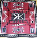 Picture of Black & Maroon Aztec Wild Rag #470-1