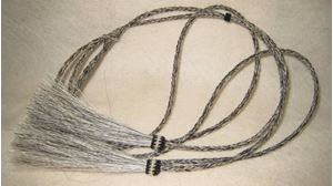 Picture of Gray Mix Horsehair Stampede String #1218
